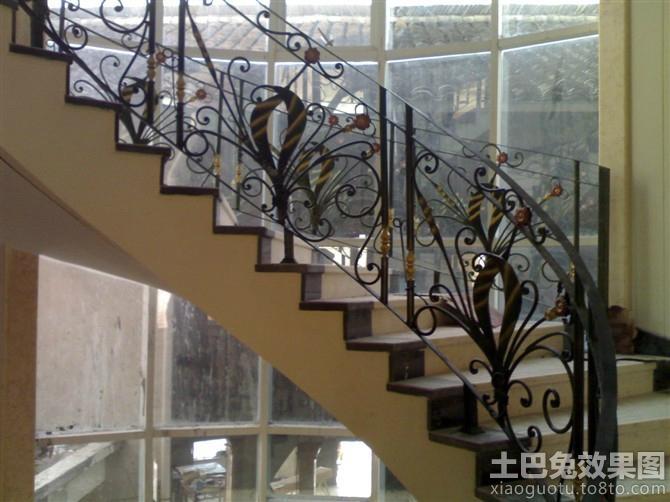 别墅铁艺楼梯扶手图片图片
