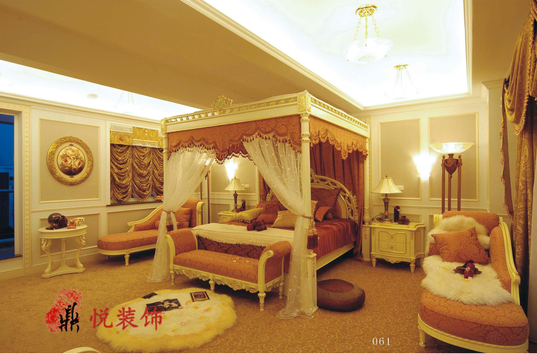 豪华欧式别墅装修卧室效果图大全图片
