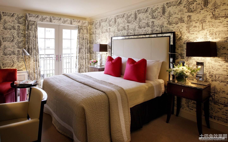 卧室墙纸装修效果图大全2014图片