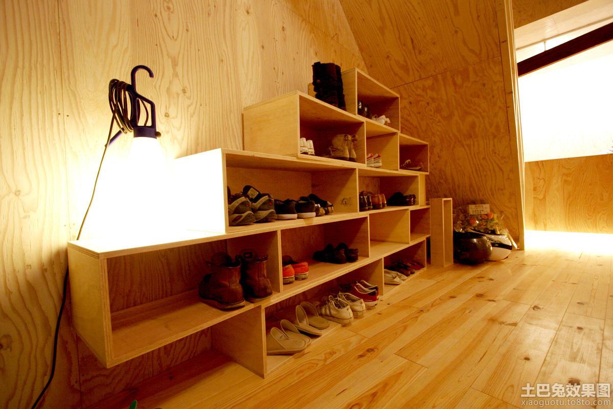 原木色鞋柜设计图