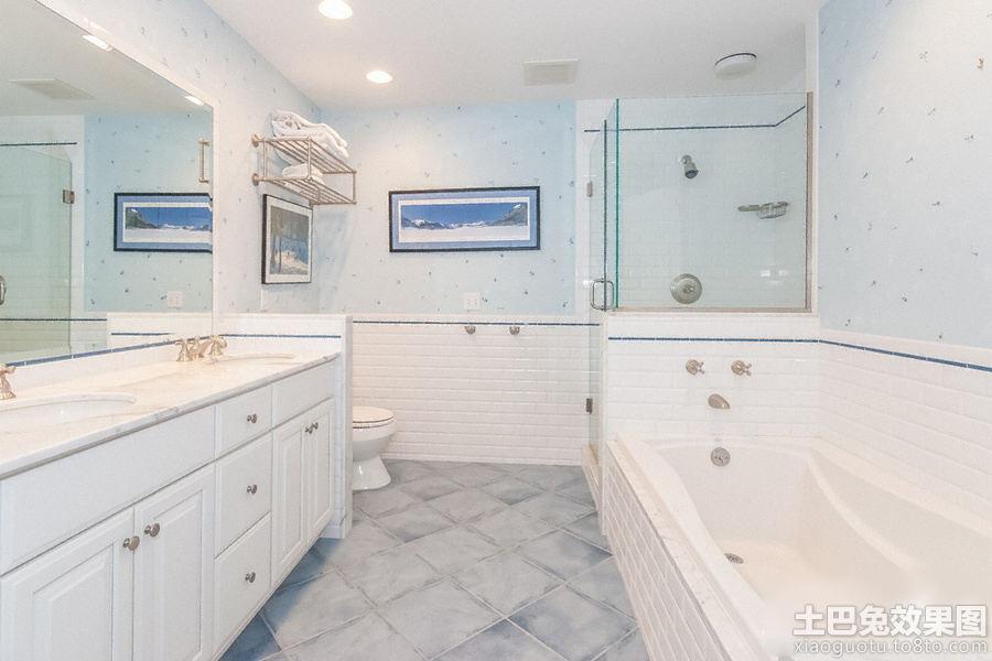 白色卫生间台盆柜装修设计 - 装修效果图 - 九正家居网