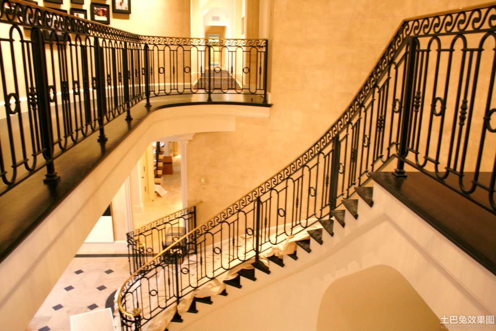别墅铁艺楼梯扶手图片欣赏