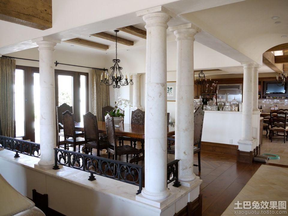 欧式客厅柱子装饰效果图 - 装修效果图 - 九正家居网图片