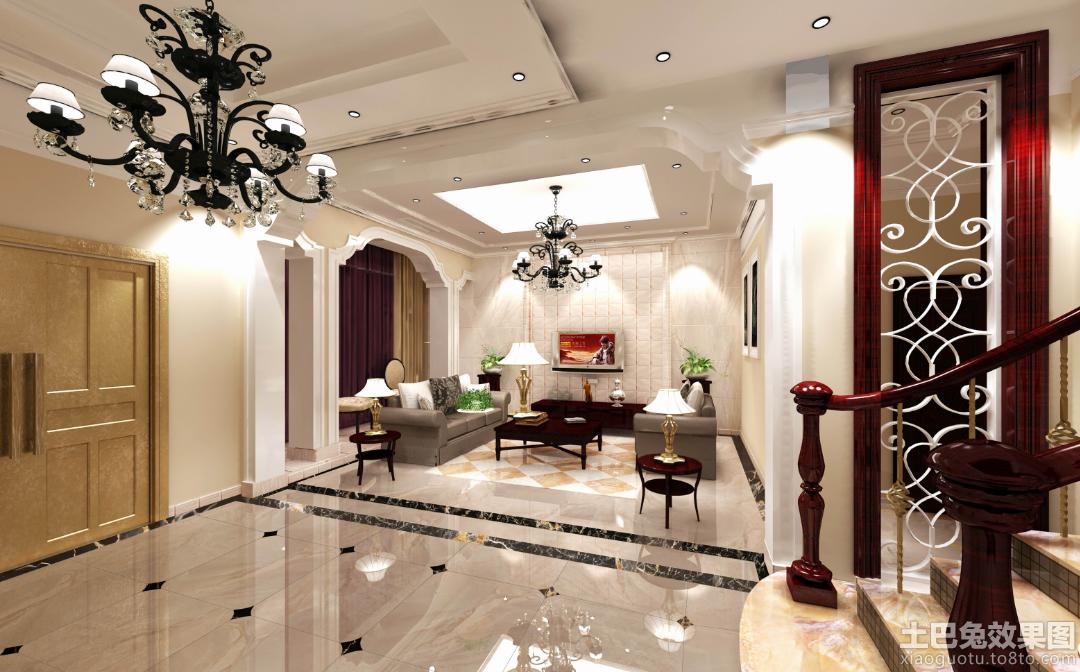 客厅地面瓷砖设计图片