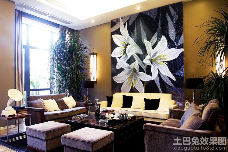 客厅艺术墙装修效果图