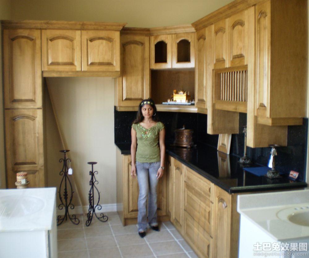 实木厨房橱柜装修图片图片