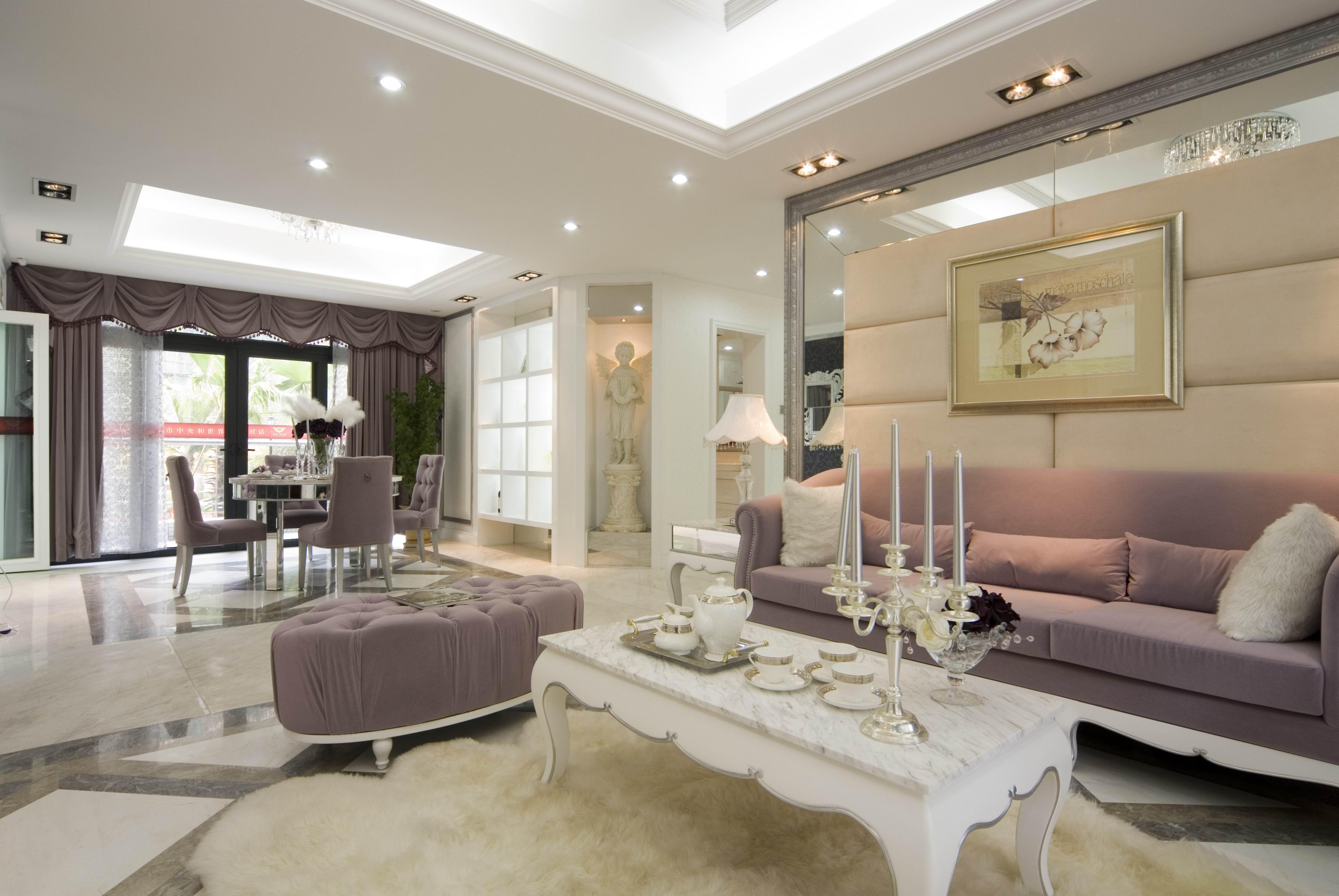 欧式风格四室两厅家庭客厅装修设计 - 装修效果图图片
