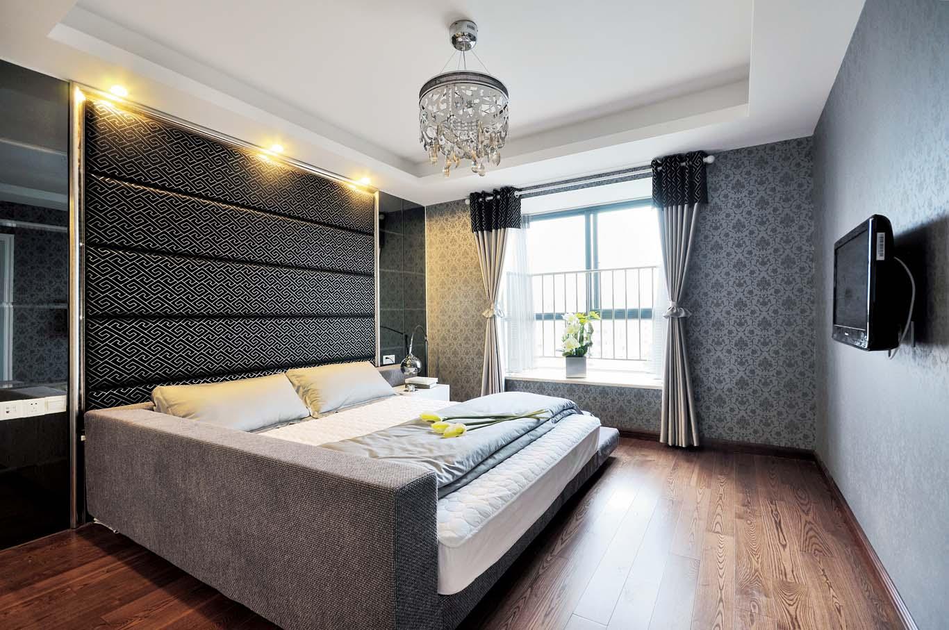 现代风格简装卧室效果图2014图片