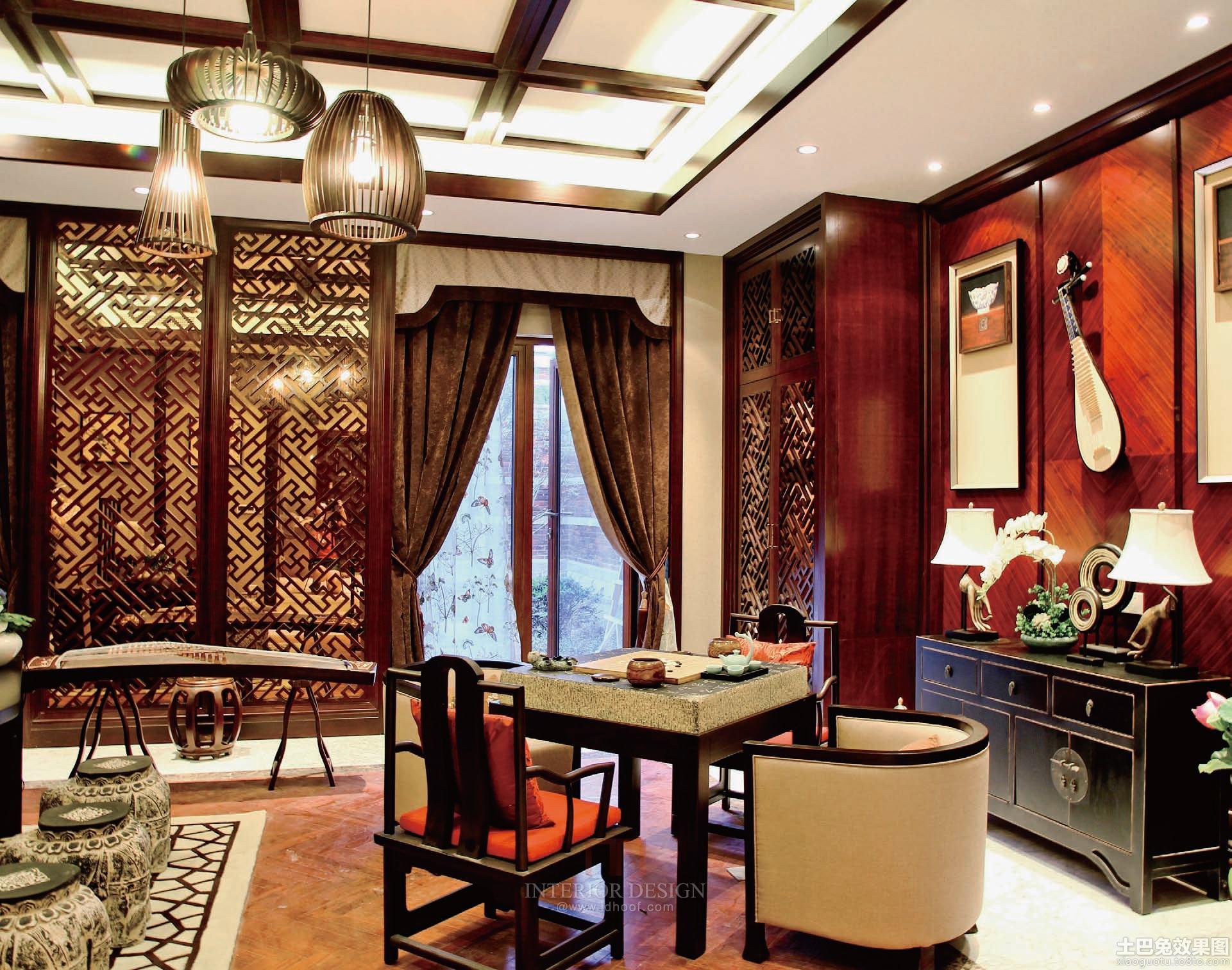 中式风格休闲区装修图片图片