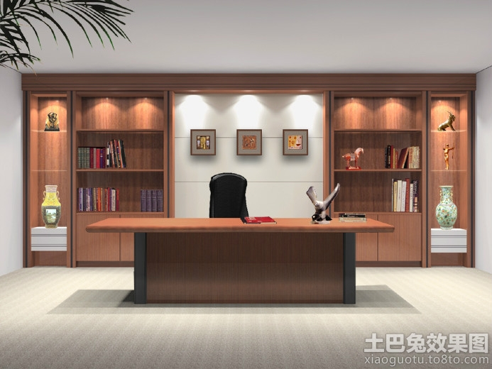 领导办公室背景墙装修设计图