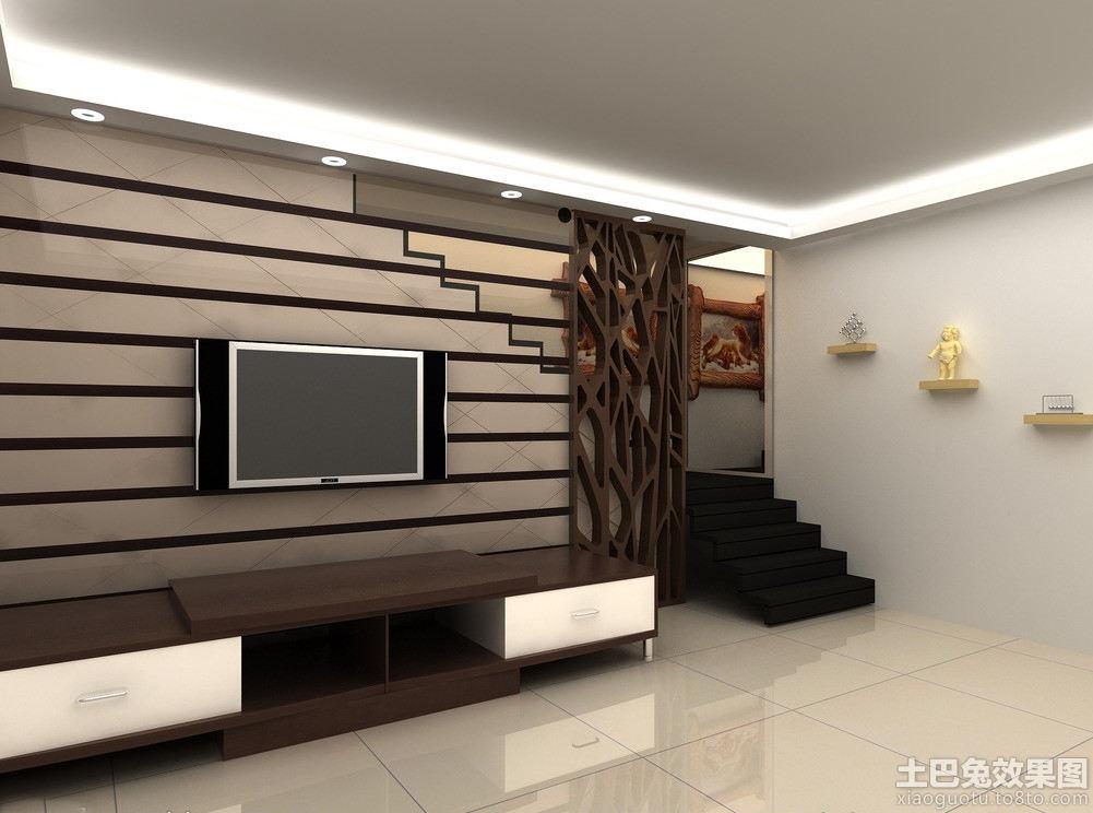生态木客厅背景墙 - 装修效果图