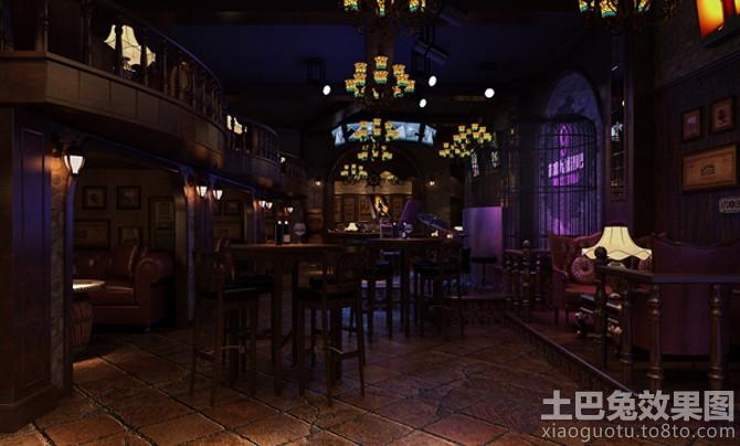 美式传统酒吧装修效果图图片