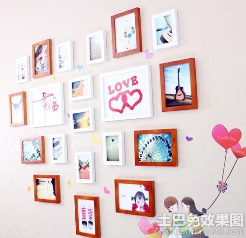 情侣照片墙效果图 - 装修效果图