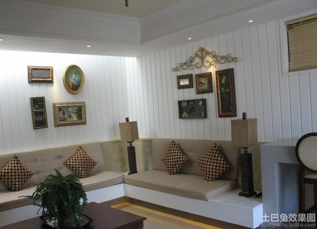 家居装修沙发背景墙家庭装修客厅壁画图片9