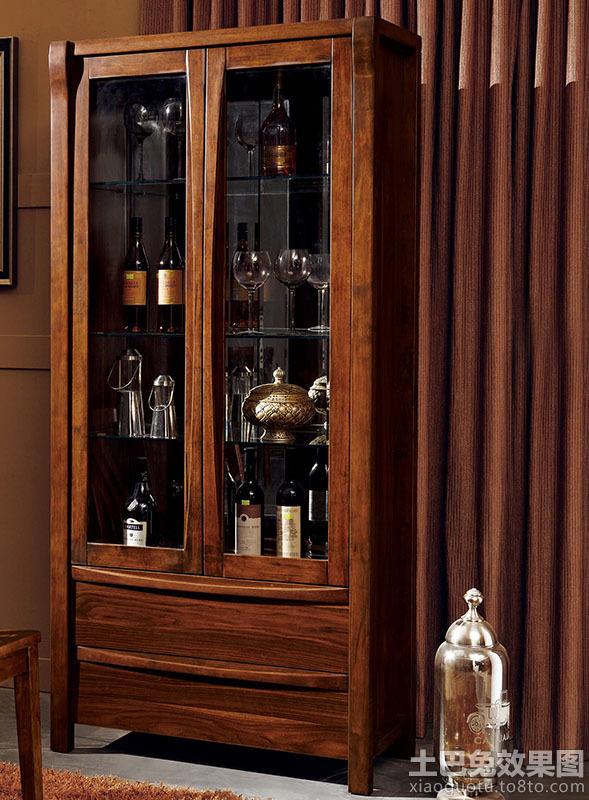 实木中式酒柜图片大全