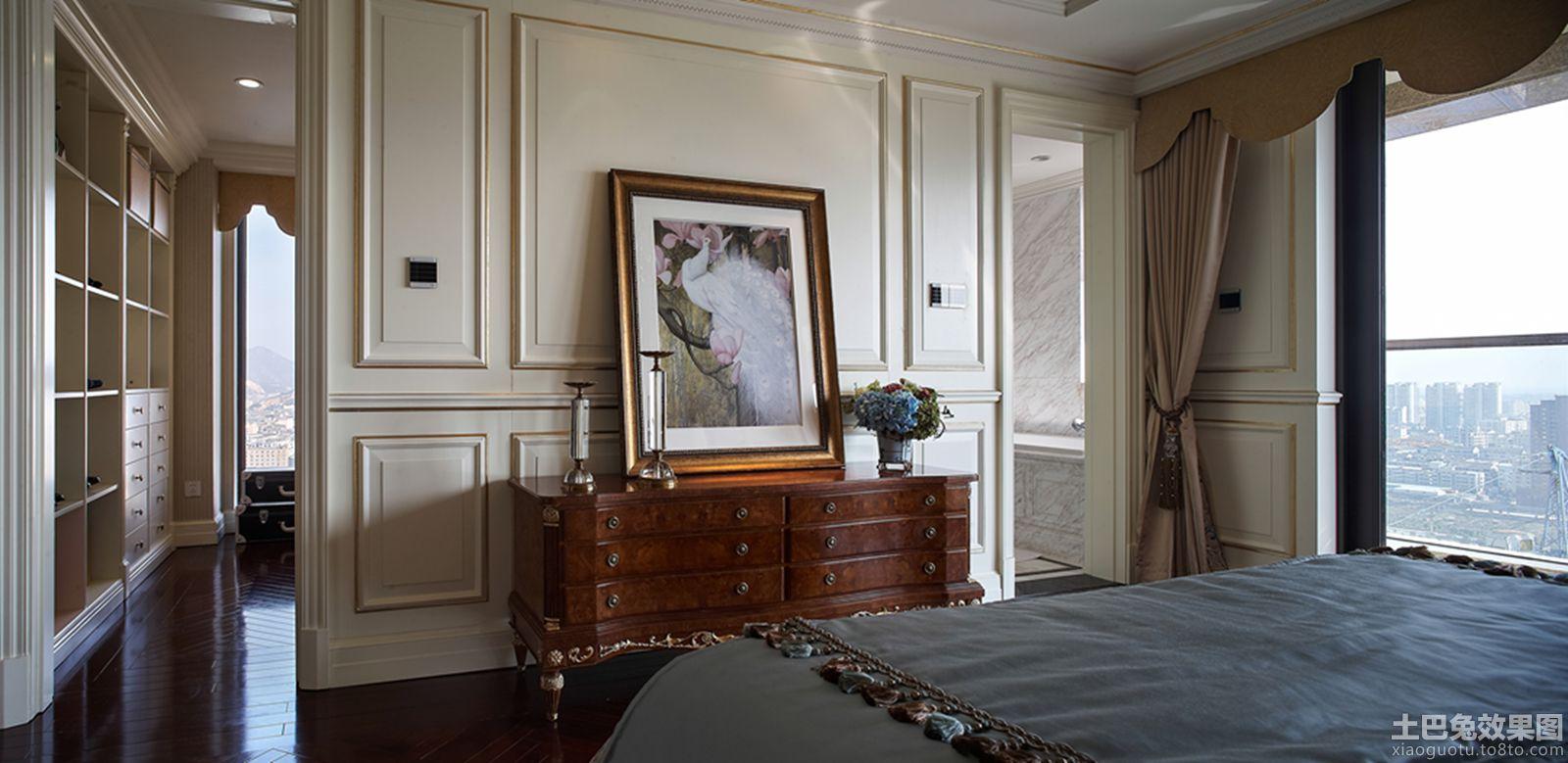 美欧风格卧室隔断墙装修效果图