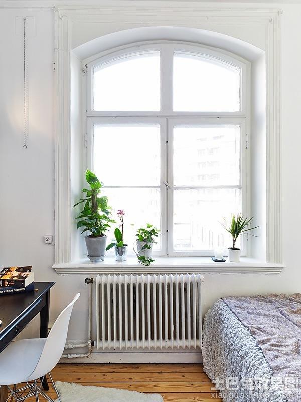 北欧卧室窗户装修效果图图片