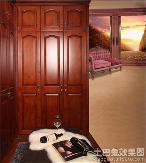 北欧风格卧室实木衣柜效果图