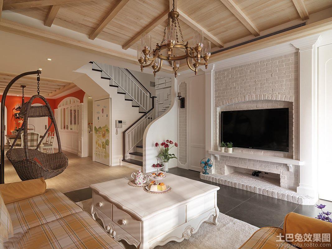 简欧风格客厅电视背景墙设计图片图片