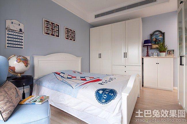 简约风格男生卧室装修效果图