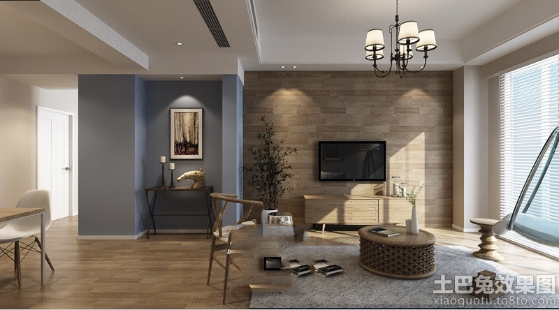 北欧风格客厅电视背景墙效果图大全图片