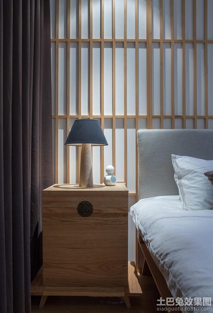 日式风格实木卧室家具图片