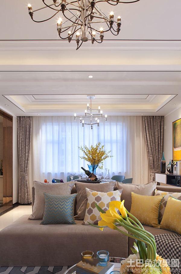 新古典风格110平米两室两厅精装修效果图