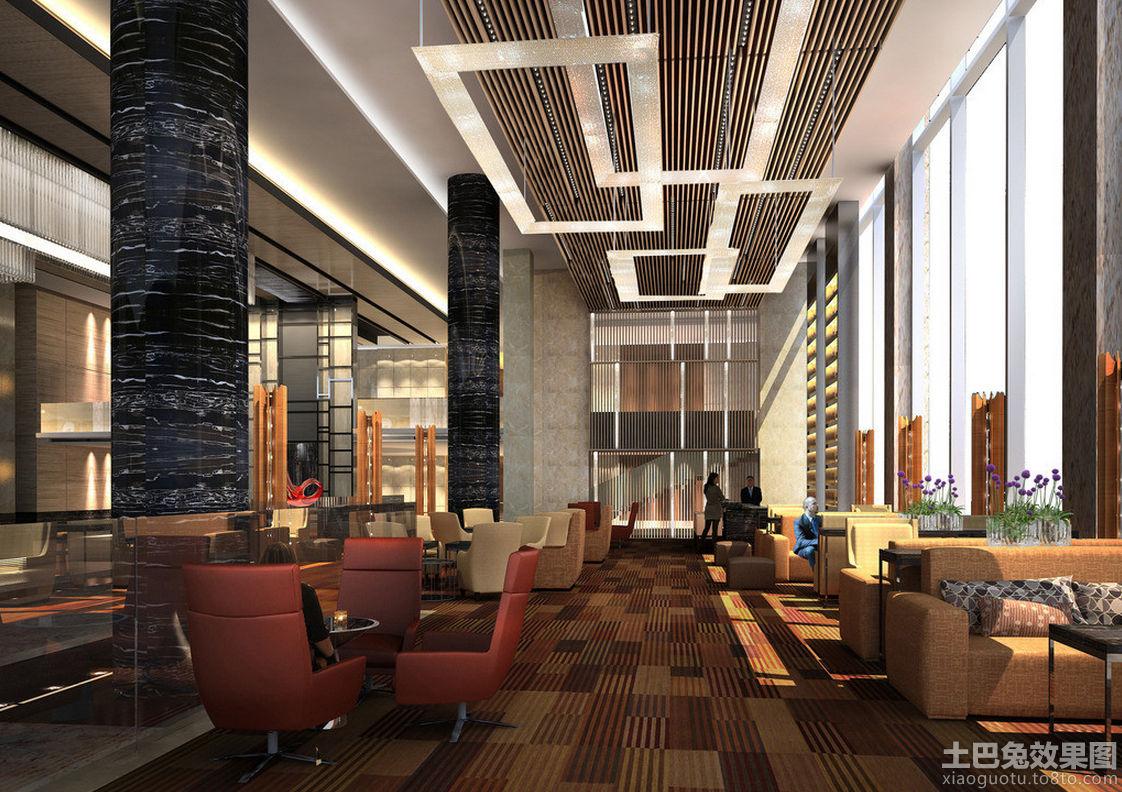五星级酒店大堂设计效果图
