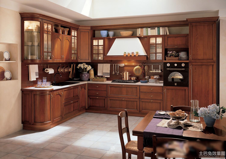 中式家居实木厨房装修设计