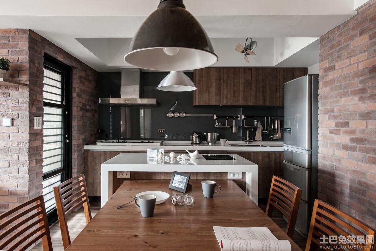 仿古风格室内装修厨房餐厅设计图片