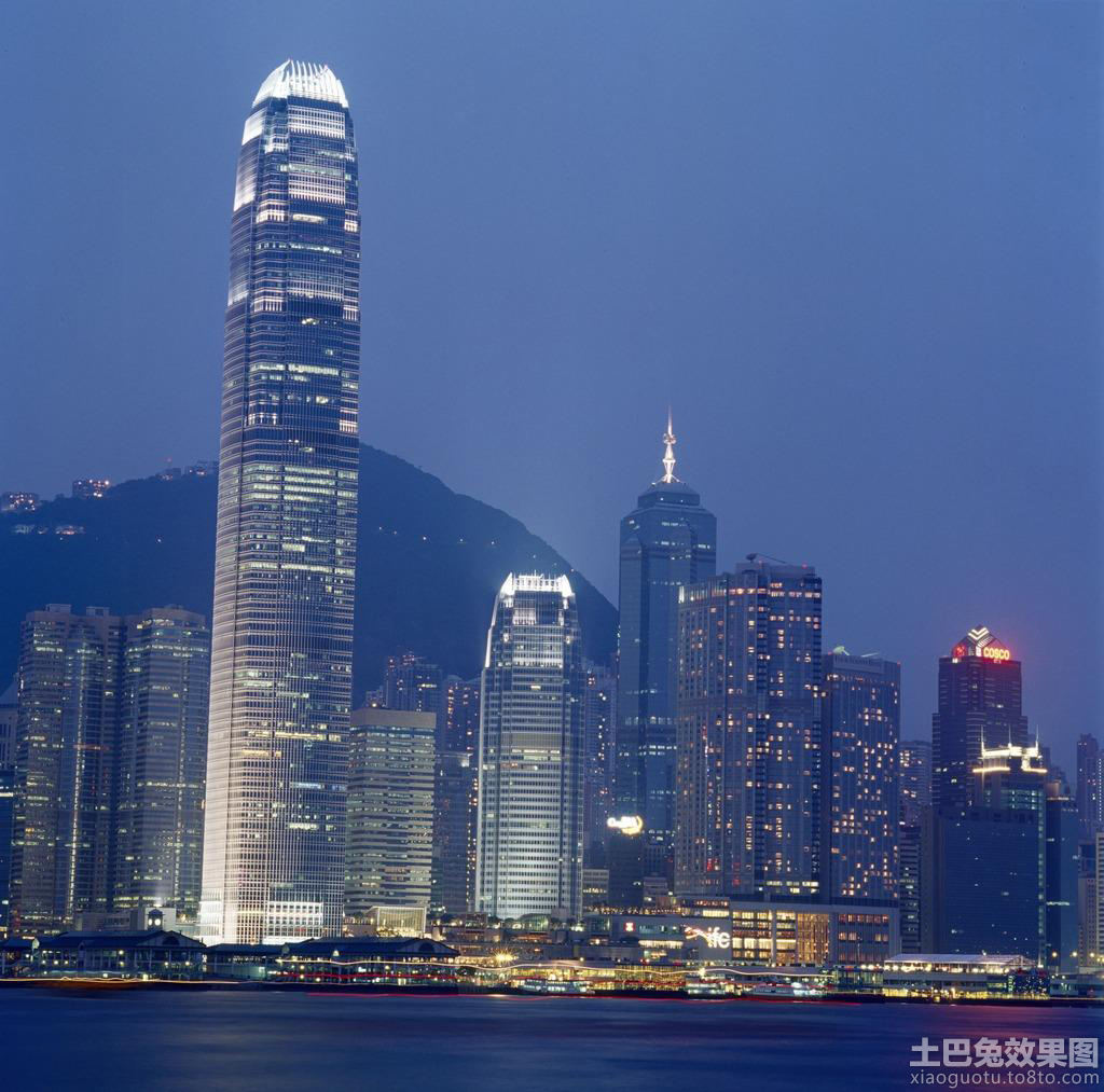 天津平安大厦夜景图片