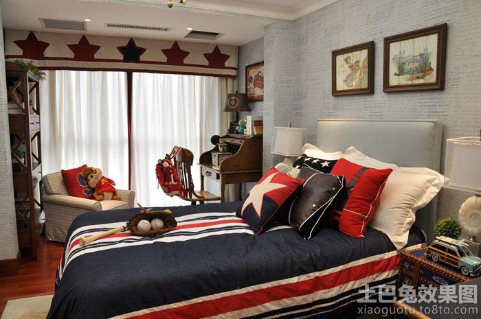 美式别墅男儿童房间装修效果图图片