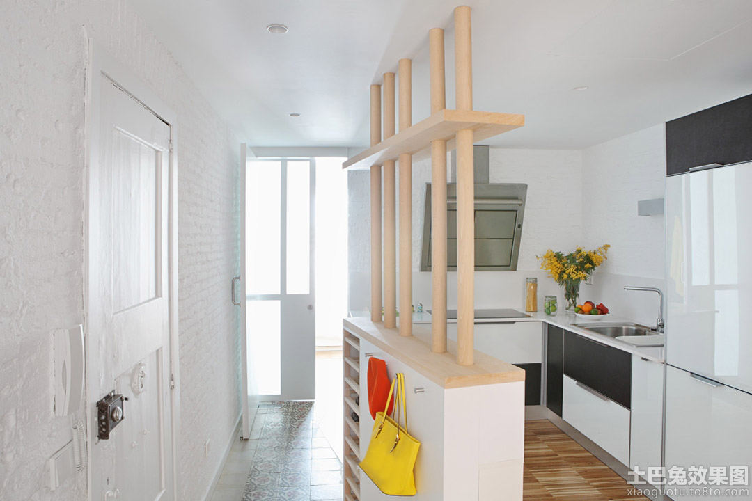 简约小户型公寓厨房隔断效果图