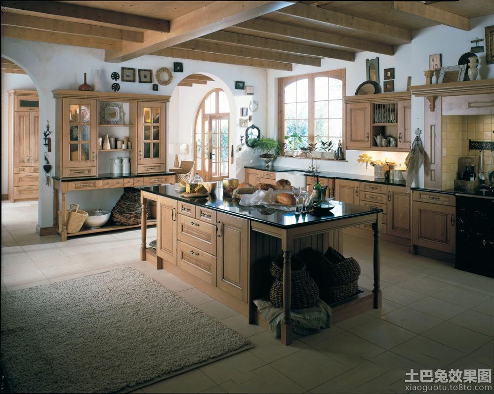 美式乡村风格大厨房装修图片图片