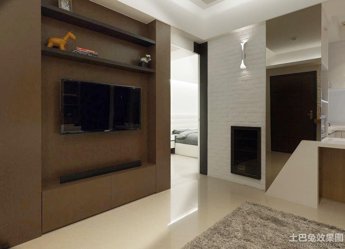 现代公寓电视背景墙效果图图片