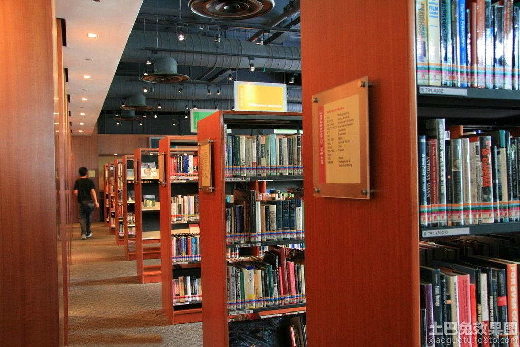 图书馆书架间距效果图
