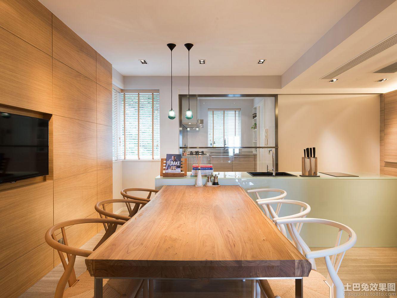 日式风格餐厅石膏板吊顶装修图