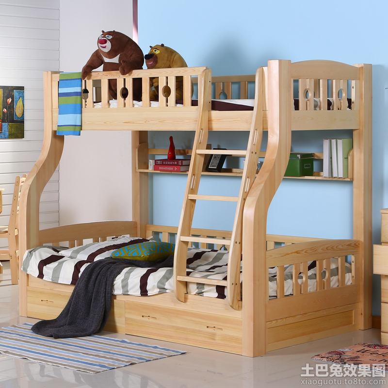 儿童实木子母床图片