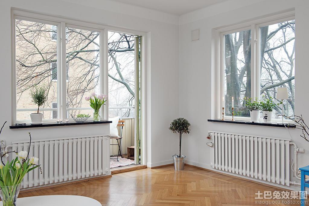北欧室内卧房窗户效果图图片