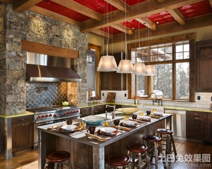 复古装修厨房设计效果图