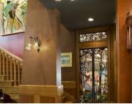 美式别墅艺术玻璃门装修效果图图片