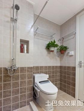 家庭小衛生間瓷磚顏色搭配效果圖圖片