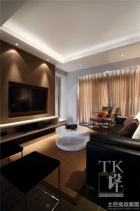 > 客厅嵌入式电视背景墙效果图