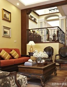 别墅挑高客厅装修效果图大全2.