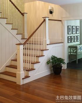 简约欧式实木楼梯图片
