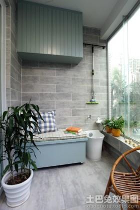 室内阳台墙面装修效果图大全2.