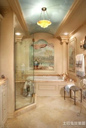 卫生间欧式浮雕壁画贴图图片