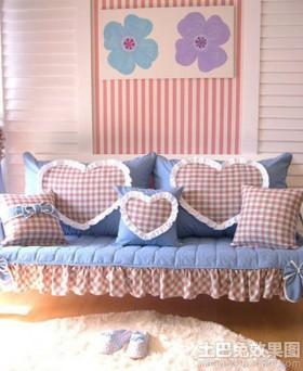 【布艺沙发坐垫图片】