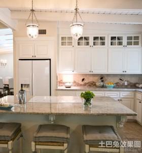 厨房吧台大理石台面效果图欣赏
