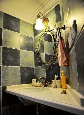 欧式卫生间洗手台瓷砖装修效果图